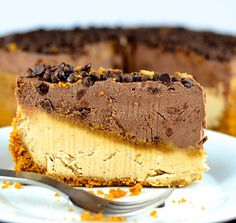 No-Bake Peanut Butter & Chocolate Vegan Cheesecake   May I Have That Recipe