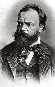 """ANTONÍN LEOPOLD DVORÁK. (1841-1904) Compositor austríaco de sinfonías  y música de cámara, de tonalidades eslavas. Reconocido mundialmente por su SINFONÍA Nº 9 Op. 95 """"Desde el Nuevo Mundo"""", compuesta en New York."""