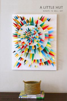 Arte con papel / Paper wall art