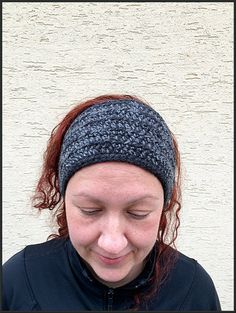 Black gray earwarmer Ear Warmer Winter Crochet by gremArt on Etsy