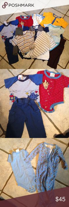 Huge lot boys 3-6 mo 24 pieces  YOU'RE SAVING LOTS No rips, stains. Everything in very good condition. Other