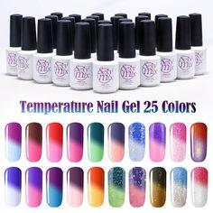 Sexy Mix Temperature Change Chameleon Make up Color Changing UV Nail Gel Polish Long Lasting UV Gel Nail Varnish NEWEST Gel Nail
