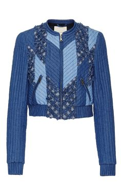 Patch Chambray Jacket by REBECCA TAYLOR for Preorder on Moda Operandi