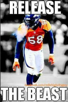 Von Miller Broncos Players, Broncos Gear, Nfl Broncos, Funny Sports Memes, Nfl Memes, Football Memes, Denver Broncos Football, Football Baby, Denver Broncos Wallpaper