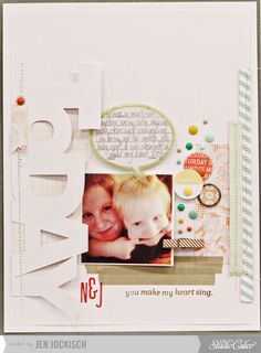 #papercraft #scrapbook #layout You make my heart sing by Jen Jockisch at Studio Calico