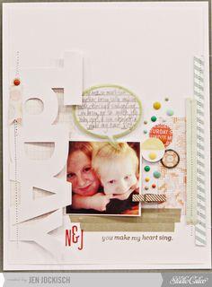 #papercraft #scrapbook #layout You make my heart sing by Jen Jockisch at Studio Calico