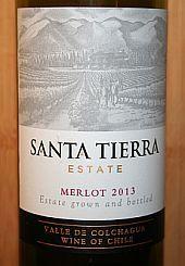 Santa Tierra Merlot 2013, Valle de Colchagua, Chili