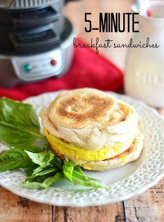 5 Minute Breakfast Sandwiches