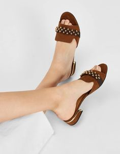 Designer Shoes On Sale, Designer Heels, Fashion Slippers, Fashion Heels, Beaded Sandals, Shoe Dazzle, Womens Slippers, Girls Shoes, Leather Sandals
