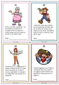- 14 kompletterande problemlösningsuppgifter till tidigare material Kids Learning, Teaching, Education, Math, Comics, School, Easter Baskets, Autism, Kisses
