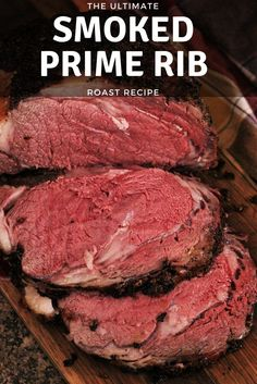 The Ultimate Smoked Prime Rib Recipes Today I'm sharing my favorite recipe ideas for cooking Christmas dinner on the smoker! I've covered everything you need from smoked prime rib and smoked baked potatoes to smoked crab legs in the video below. Traeger Recipes, Smoked Meat Recipes, Rib Recipes, Roast Recipes, Chicken Recipes, Salmon Recipes, Recipes Dinner, Healthy Grilling Recipes, Gourmet Foods