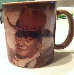 "John Wayne Ceramic Coffee cup Mug ""A man's got to do what a man's got to do"""