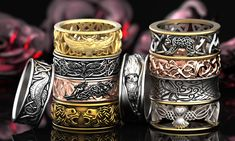 Woven Celtic animal rings and wedding bands. We offer a wide variety of unique and custom Celtic ring designs!