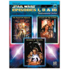 Alfred Star Wars: Episodes I, II & III Instrumental Solos Tenor Sax Bo