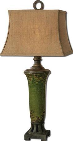 Uttermost 27436 Olea Green Table Lamp