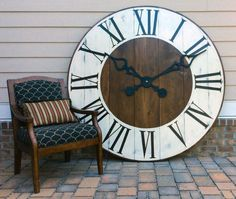 oversized wall clock giant wall clock large by