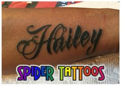Name Tattoo by Spider