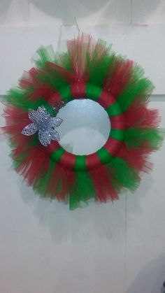 Holiday tulle wreath by momscreate on Etsy