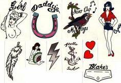 Amy Pic Posting for Fun! - Page 647 - Anything Amy Rock Tattoo, S Tattoo, Tattoo Flash Art, Tatoo Art, Symbol Tattoos, Small Black Tattoos, Amy Winehouse Style, Tribal Butterfly Tattoo, Pin Up Tattoos