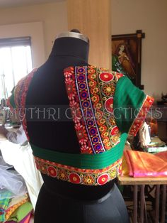 gujarish Saree Blouse Designs, Blouse Styles, Traditional Sarees, Weaving, Indian Attire, Embroidery, Indian Fashion, Brides, How To Wear