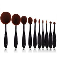 10pcs Pro Toothbrush Makeup Brush
