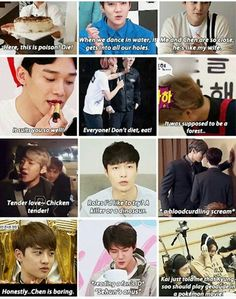Shit Exo have said <--- IM CRYING AT THE BOTTOM RIGHT ONE OMG
