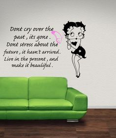 betty boop quotes | Betty Boop wall art with quote wa053 58x85 by leebolddesigns