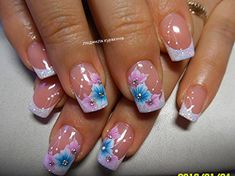 20 Marble Nail Art Tutorials That Are Truly Mesmerizing French Nail Designs, Creative Nail Designs, Nail Polish Designs, Nail Art Designs, Cute Nails, Pretty Nails, My Nails, French Nails, Spring Nails