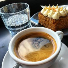 https://flic.kr/p/CFwR1Z | Long black coffee with carrot cake at Pardon in Prahran #coffee #cake