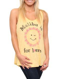Malibu is for Lovers Slub Surf Tank  $12.00  www.junkfoodclothing.com