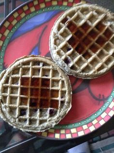 For breakfast that I ate is two waffles.