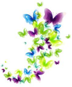 Deco Butterflies PNG Clipart Picture