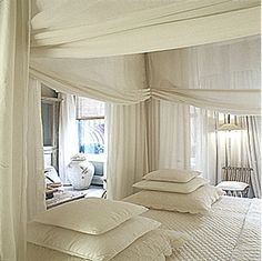 DIY Canopy Bed | Patricia Gray | Interior Design Blog™: DIY Canopy Beds I am in LOVE with these ingenious DIY ideas for canopy beds. Brilliant!