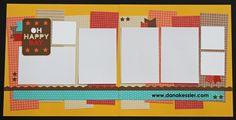 Two Page Scrapbook Layout Fundamentals Happy Day Autumn 20 page workshop #pagekits #ctmh #cricutexplore #scraptabulousdesigns #scrapbooking
