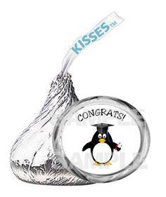 Graduation PENGUIN Graduate kiss labels Party by myhtmdesigns