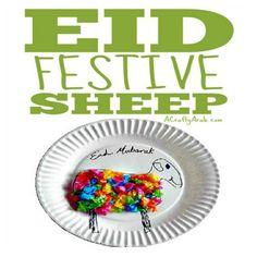 99 Creative Sheep Projects {Resource} - A Crafty Arab Muslim Celebrations, Eid Crafts, Star Banner, Baby Art, Sheep, Prophet Muhammad, Crafty, Creative, Tissue Paper