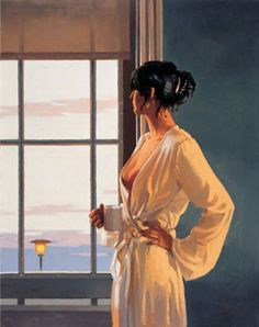 Framed /& Mounted Print Thin Black FREE P+P Jack Vettriano Portrait Black Pearl