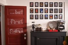 Make your morning happy - create yourself a Coffee Station in the kitchen.