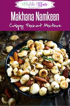 Makhana Namkeen is roasted in a mixture of spices and salt. It is a light snack that is easy to prepare, low on fat and high on nutrition. Healthy Indian Snacks, Indian Food Recipes, Vegetarian Recipes, Cooking Recipes, Healthy Recipes, Vegetarian Starters, Fast Recipes, Dinner Healthy, Curry Recipes