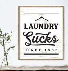 Humorous Handcrafted Wooden Laundry Signs - Who likes to do laundry? Very few. We found these whimsical all natural wood laundry signs guaranteed to brighten the mood around the laundry area in your home. Each sign is hand printed on solid wood. Available Now @ www.bourbonandboots.com