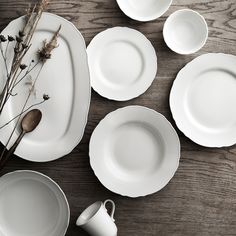 IKEA - UPPLAGA, Deep plate/bowl, white, Wash this product before using it for the first time. Ikea Dinnerware, White Dinnerware, Tableware, Kitchenware, Farmhouse Dinnerware, Serving Plates, Serving Dishes, White Dish Set, Kitchen