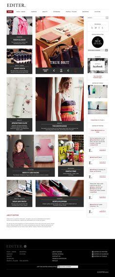 Digital Design ideas from Brick+Bond. Web Design Gallery, Web Design Trends, Site Design, Web Design Inspiration, Design Ideas, Magazine Examples, Magazine Layouts, Magazine Design, Ui Kit