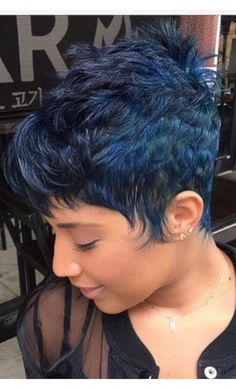 47 ideas hairstyles black women color pixie cuts for 2019 Short Sassy Hair, Short Pixie, Short Hair Cuts, Pixie Cuts, Cute Hairstyles For Short Hair, Curly Hair Styles, Natural Hair Styles, Pixie Styles, My Hairstyle