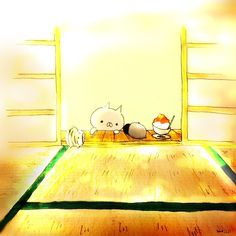 もじじさんはInstagramを利用しています:「かき氷食べて元気だそう  #cat#ねこ#猫#ペンギン#イラスト#絵#illust#illustagram#和#和み#かき氷#夏」 Penguin Cartoon, Animal Wallpaper, Neko, Penguins, Kids Rugs, Acorn, Illustration, Cute, Animals