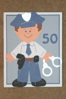 Lil' Bugger: Everyday Paper Dolls Policeman Birthday