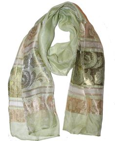 Ladies Scarf Green 3