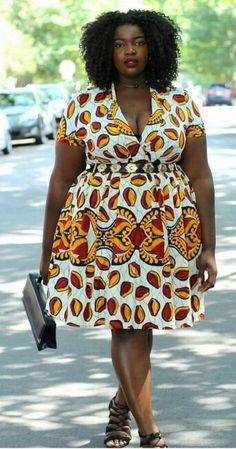 ♡Fashion blogger @fashiononacurve rocking the Numbo Dress. www.grass-fields.com #africanfashion #africanprint #africanskirt #africandress #headwrap #africangirl #africanstyle #africanbeauty #africanqueen #blackqueen #africanfabric #africandesign #afro #naturalhair #afrogirl www.grass-fields.com