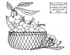 Fruit Baskets Embroidery Transfer Patterns