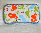 Travel Baby Wipe Case In Cute Dinosaurs Fabric, Boy Wipe Case, Ready to Ship