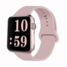 VATI Sport Band Compatible for Apple Watch Band Soft Silicone Sport Strap Replacement Bands Compatible with 2019 Apple Watch Series iWatch S/M (Pink Sand) - 5016 Wallpaper Apple Watch Bands, Apple Watch Series, Apple Band, Apple Watch Wristbands, Silicone Bracelets, Pink Sand, Watch Model, Smart Watch, Cell Phone Accessories